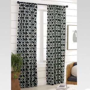 Threshold > Farrah Fretwork Curtain Panel > Black